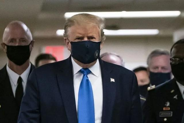 Trump wearing masks for the first time in public
